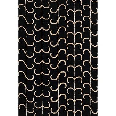 Ebern Designs Sidney Black Area Rug; 7'9'' x 10'6''