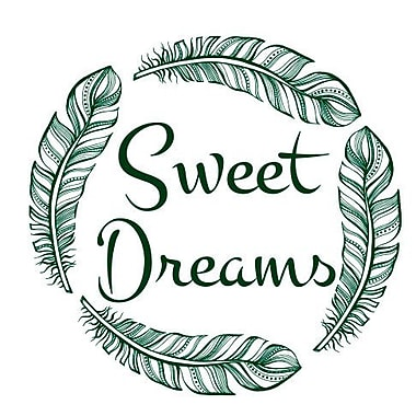 Decal House Sweet Dreams Quote Wall Decal; Green
