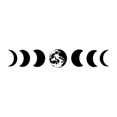 Decal House Moon Phases Wall Decal; Black
