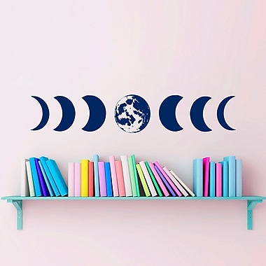 Decal House Moon Phases Wall Decal; Navy Blue