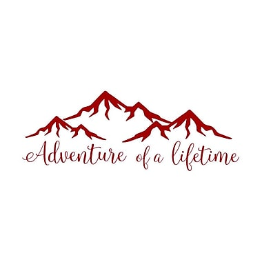 Decal House Adventure of a Lifetime Quote Wall Decal; Purple/Red