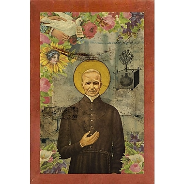 East Urban Home 'The Holy Father' Framed Graphic Art Print; Canadian Walnut Wood Medium Framed Paper
