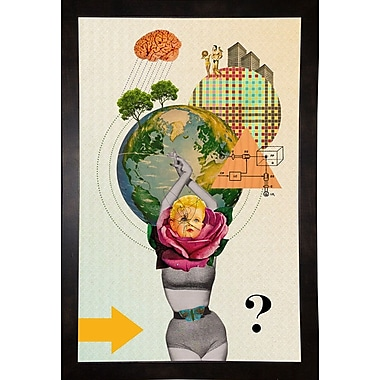 East Urban Home 'Mother Nature' Framed Graphic Art Print; Black Wood Medium Framed Paper