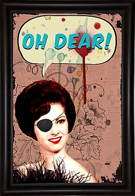 East Urban Home 'Oh Dear' Framed Graphic Art Print; Bistro Expresso Framed Paper