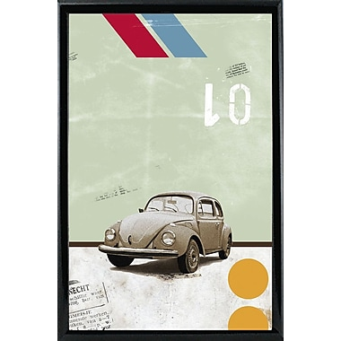 East Urban Home 'The Beetle' Framed Graphic Art Print; Wood Floater Framed Wrapped Canvas