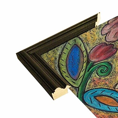 Winston Porter 'Blue Bird' Print; Black Wood Grande Framed Paper