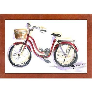 East Urban Home 'Go for a Ride' Print; Canadian Walnut Wood Medium Framed Paper
