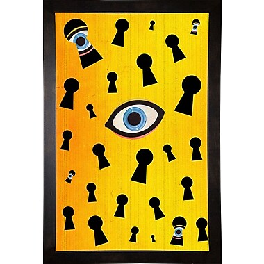 East Urban Home 'They Are Watching' Framed Print; Cafe Espresso Wood Framed Paper