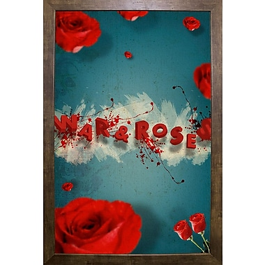 East Urban Home 'War and Roses' Framed Graphic Art Print; Rolled Canvas