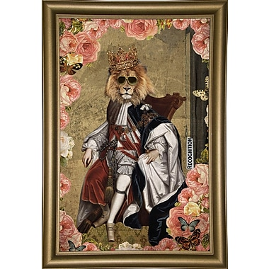 East Urban Home 'The King' Framed Print; Wrapped Canvas