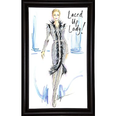 East Urban Home 'Laced Up Lady' Print; Paper
