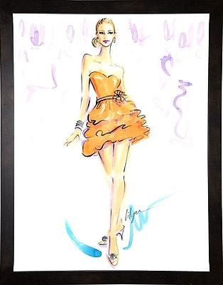 East Urban Home 'Tangerine Queen' Print; Cafe Espresso Wood Framed Paper