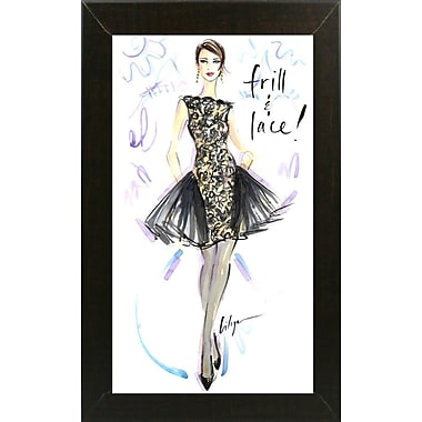 East Urban Home 'Frill and Lace' Print; Brazilian Walnut Wood Medium Framed Paper