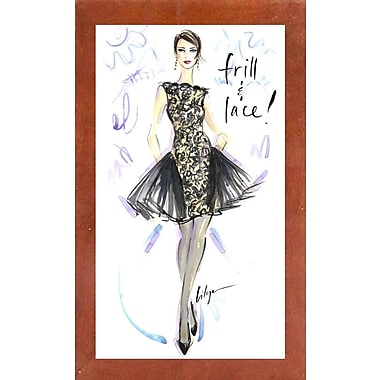 East Urban Home 'Frill and Lace' Print; Canadian Walnut Wood Medium Framed Paper