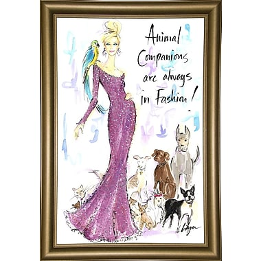 East Urban Home 'Animal Companions' Print; Bistro Gold Framed Paper