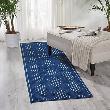 Mercer41 Marietta Navy Area Rug; Runner 2'3'' x 8'