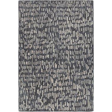 Orren Ellis Kirtley Hand-Woven Black/Gray Area Rug; 7'9'' x 10'6''