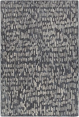 Orren Ellis Kirtley Hand-Woven Black/Gray Area Rug; 5' x 7'6''