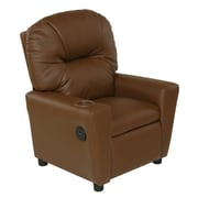 Harriet Bee Cayeman Youth Recliner Faux Leather Chair W/ Cup Holder And  Dual USB;
