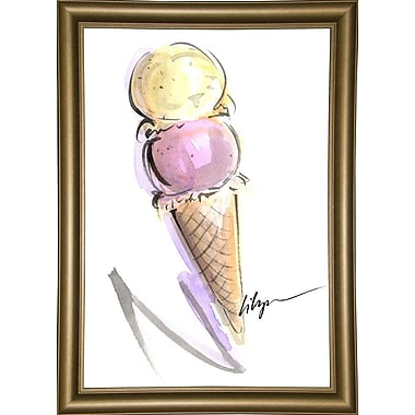 Harriet Bee 'Sweat Treat' Print; Bistro Gold Framed Paper