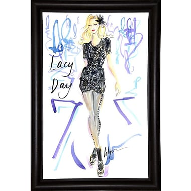 East Urban Home 'Lacy Day' Print; Bistro Expresso Framed Paper