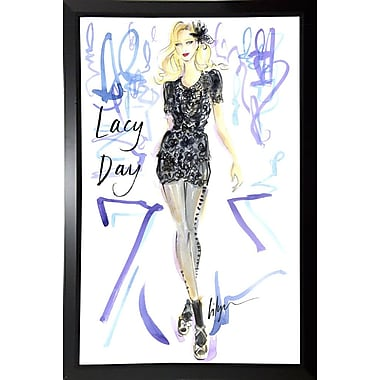 East Urban Home 'Lacy Day' Print; Black Plastic Framed Paper