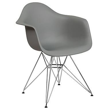 Varick Gallery Restivo Modern Plastic Dining Chair; Gray
