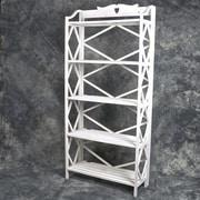 Mr.MJs Wooden 5 Shelf 70.9'' H Shelving Unit; White
