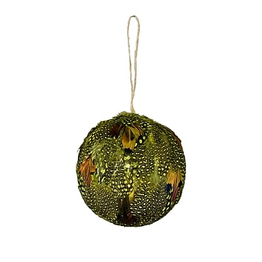 The Holiday Aisle Real Feather Ball Ornament