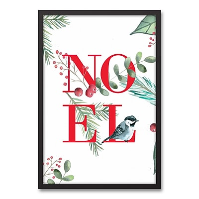 The Holiday Aisle 'Christmas Noel' Framed Textual Art on Canvas; 31.73'' H x 21.73'' W