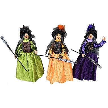 The Holiday Aisle 3 Piece Handcrafted Pleated Dress Stand Up Witch Set