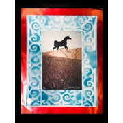Alcott Hill 'Hermes Horse' Rectangle Framed Graphic Art Print