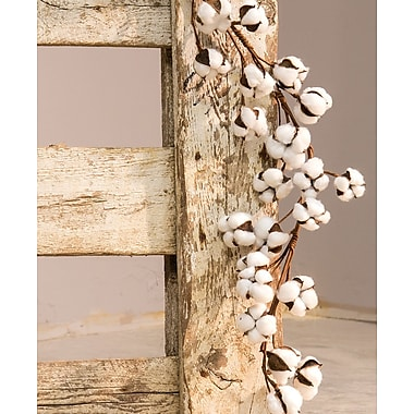 The Holiday Aisle Cotton Ball Garland; 4'' H x 60'' W x 4'' D