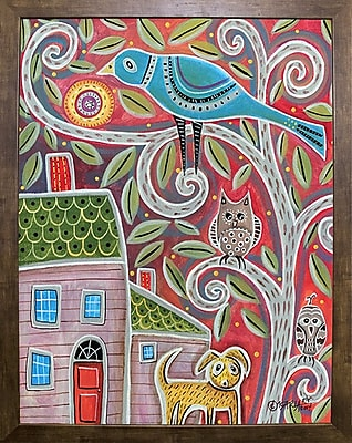 Winston Porter 'Owls and Dog' Print; Cafe