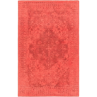 Bloomsbury Market Cedargrove Hand-Tufted Red/Black Area Rug; 7'9'' x 10'6''