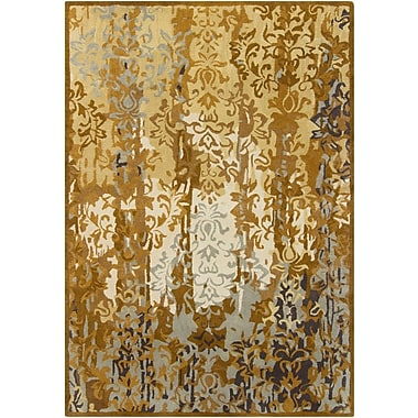 Bloomsbury Market Castlekeep Gold Area Rug; Rectangle 7' x 10'
