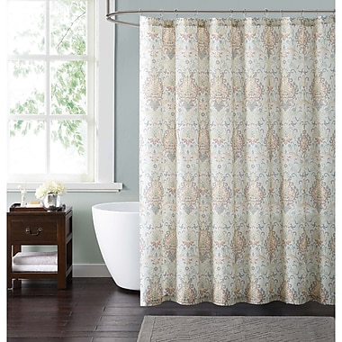 Bloomsbury Market Clendaniel Shower Curtain; Ivory
