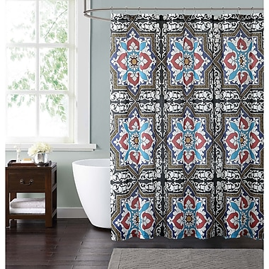 Bloomsbury Market Clickett Shower Curtain; Blue