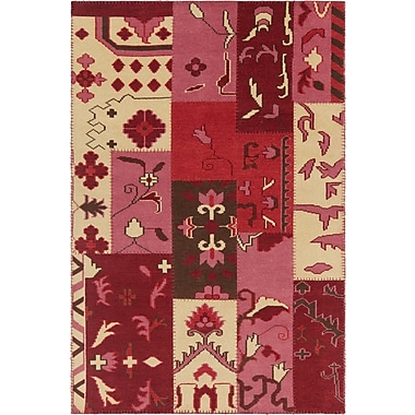 Bloomsbury Market Casselman Patterned Contemporary Pink/Red Area Rug; 7'9'' x 10'6''
