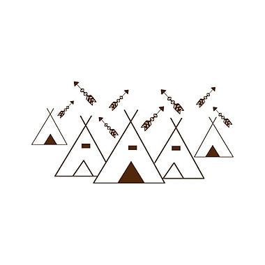 Decal House Mountains Arrows Nursery Wall Decal; Brown