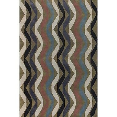Ebern Designs Aurigae Modern Wool Rug; 2' x 3'