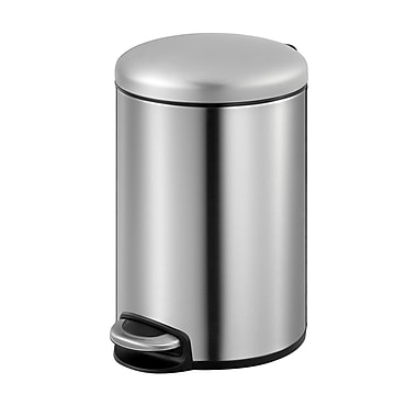 EKO Stainless Steel 2 Gallon Step On Trash Can