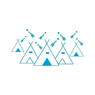 Decal House Mountains Arrows Nursery Wall Decal; Ice Blue