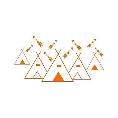 Decal House Mountains Arrows Nursery Wall Decal; Orange