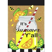 DicksonsInc Its Summer Yall Mason Jar Lemonade 2-Sided Garden Flag; Large