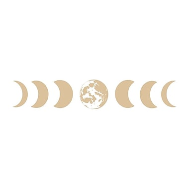 Decal House Moon Phases Wall Decal; Beige