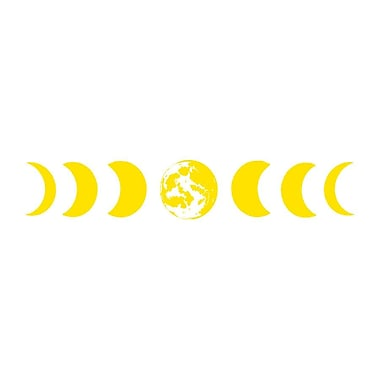Decal House Moon Phases Wall Decal; Yellow