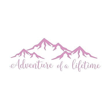 Decal House Adventure of a Lifetime Quote Wall Decal; Lilac