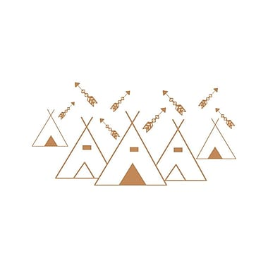 Decal House Mountains Arrows Nursery Wall Decal; Light Brown