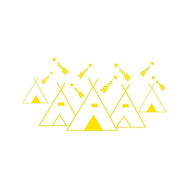 Decal House Mountains Arrows Nursery Wall Decal; Yellow